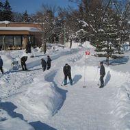 雪上パークゴルフ場
