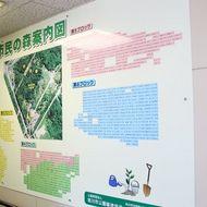 「市民の森」に植樹された皆さんのお名前を管理事務所内に掲示しています。