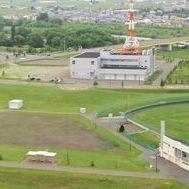 空から見た東光スポーツ公園(旭川ドリームスタジアム周辺 2013年6月)