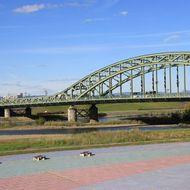 堤防から見た「旭橋」
